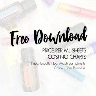 Free Price Per Ml Charts