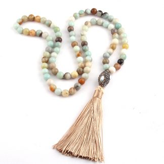Long Amazonian Style Boho Style Tassel Necklace 1