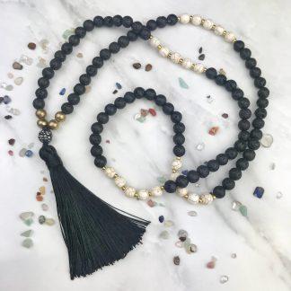 Pharoah Black Diffuser Necklace 2