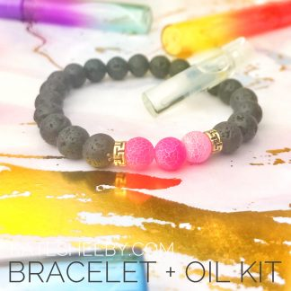 Vibrant Pink Diffuser Oil Bracelet Kit