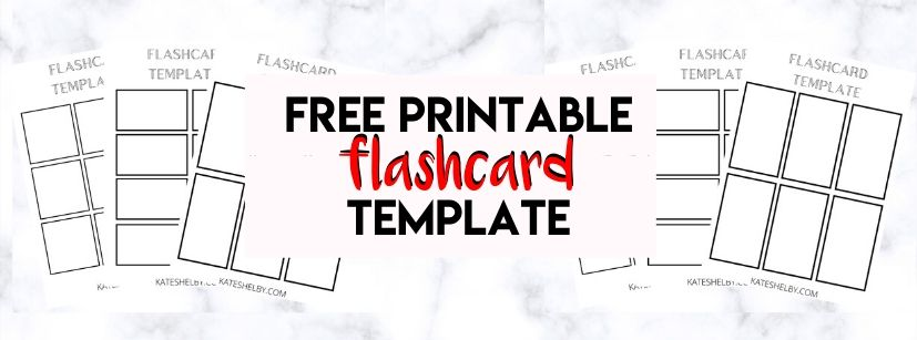 It is a graphic of Flashcard Template Printable inside pocket reference card